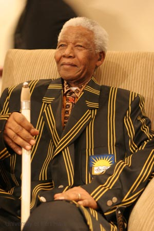 Nelson-Mandela-en- Blazer de l'Universite