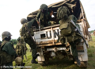 FARDC Joint Patrolling with MONUC Peacekeepers in FDLR stronghol